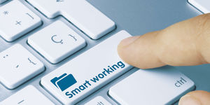 The Credit Manager dealing with smartworking